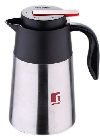 Bergner Stainless Steel Insulated Travel On the Go Coffee Tea Soup Thermos Flask