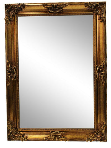 Large Ornate Antique Style Gold French Style Wall Mirror 77cm x 107cm