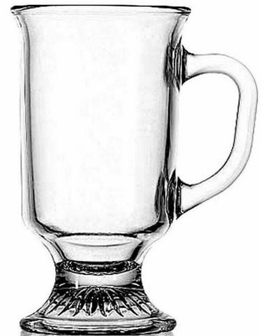 Anchor Hocking Set of 6 Glass Irish Coffee Mugs Cups  Tea Coffee Cups