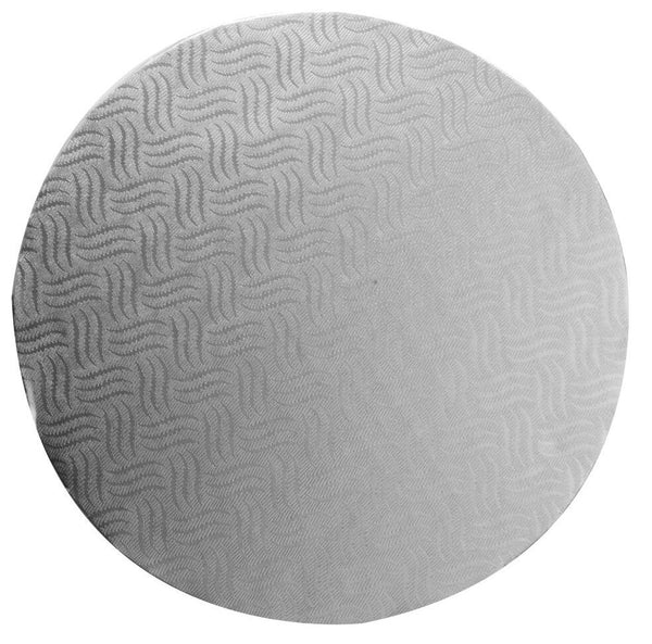 "Pack Of 6 Mason Cash Silver Round 30cm 12"", 12 mm Thick Cake Boards Base Drum"
