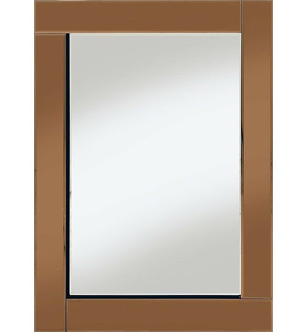 Classic Flat Bar Mirror All Glass Bronze  60 x 80cm Wall Mirror Frame less