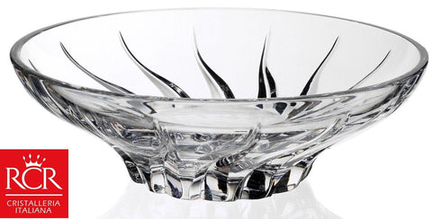 RCR Trix Crystal Glass Fruit Bowl Centerpiece Bowl 24.5cm Diameter