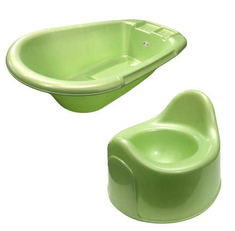 Rotho BabyDesign Mint Green Small Baby Bath & Potty Matching Set