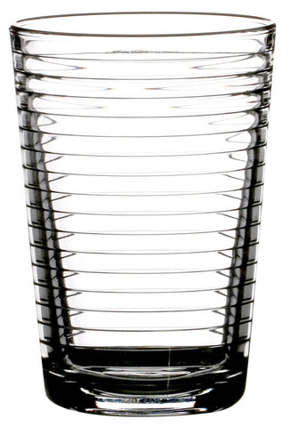Pasabche Rippled Glass Tumbler Set Stackable Juice Water Glasses Set of 8