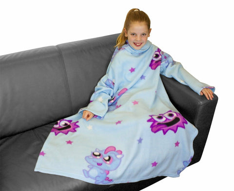 Character World Moshi Monsters Monster Sleeved Fleece Blanket Snuggie Snuggle