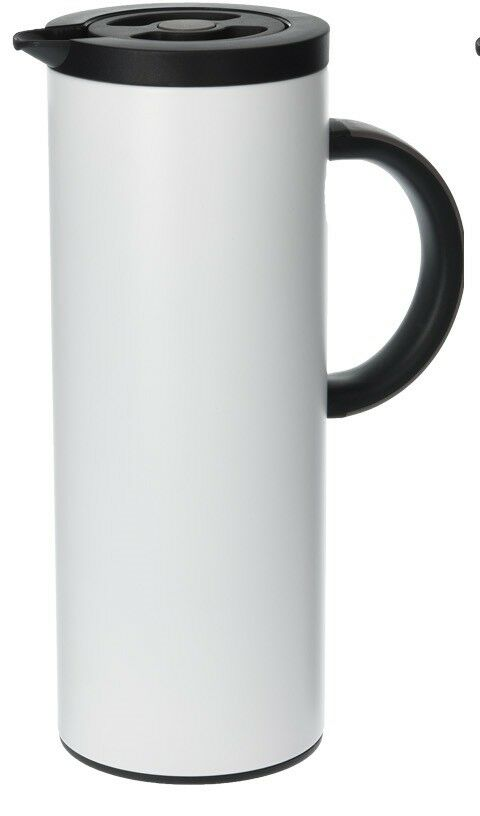 1L Sleek & Trendy Tall Insulated Jug For Hot & Cold ,Tea Coffee Stainless Steel