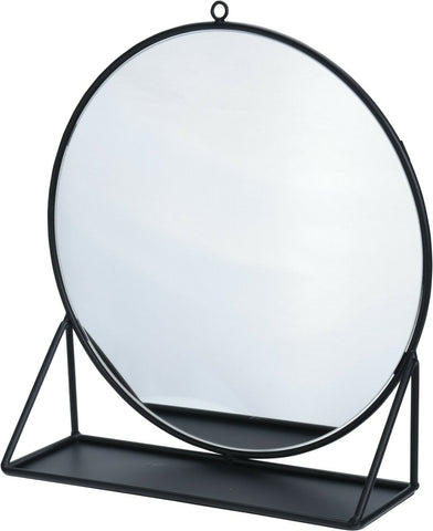 Large 32cm Round Dressing Table Mirror Make Up Mirror Shaving Mirror Black