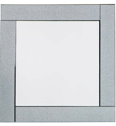 Elegant Silver Stripe Square Wall Mirror 60cm x 60cm or 60 x 80cm