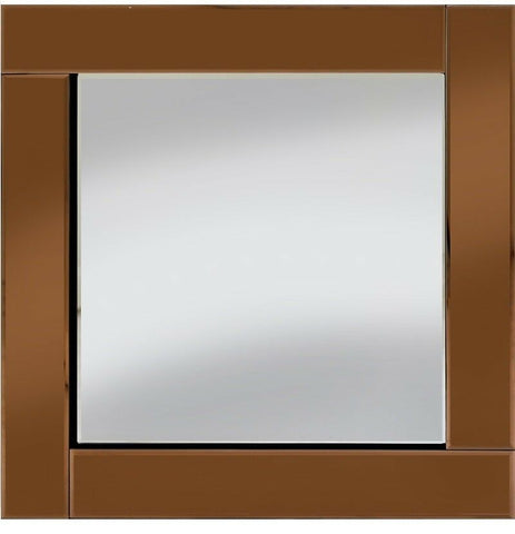 Classic Flat Bar Bronze Mirror Square Wall Mirror 60cm x 60cm