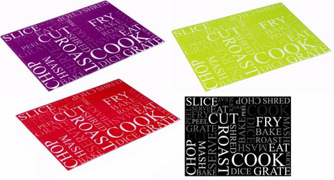 Zodiac Actions Tempered Glass Worktop Protector Saver Chopping Cutting Board