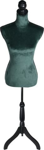 160cm Tall Green Velvet Body Mannequin