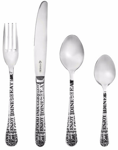 Viners Soho 16 Piece Stainless Steel Cutlery Set Modern Design