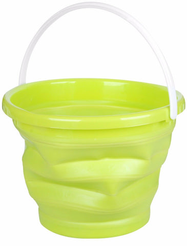 10 Litre Collapsible bucket In Green Ideal for Camping or Fishing Bucket