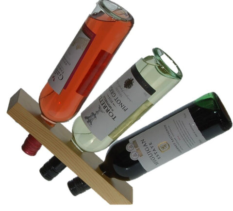 RTA Wood Wine Floating Bottle Holder Countertop Display
