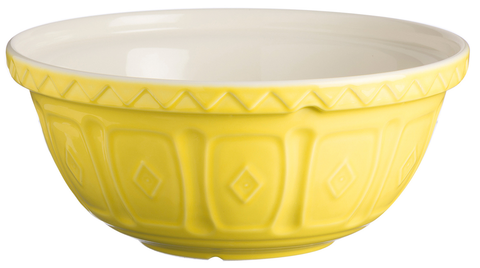 Mason Cash S24 Large Yellow Mixing Bowl Bright Colours Deep Mixing Bowl 24cm