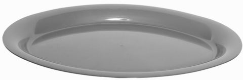 Set of 5 Oval Large Silver Stackable Serving Trays Restaurant Trays 42cm