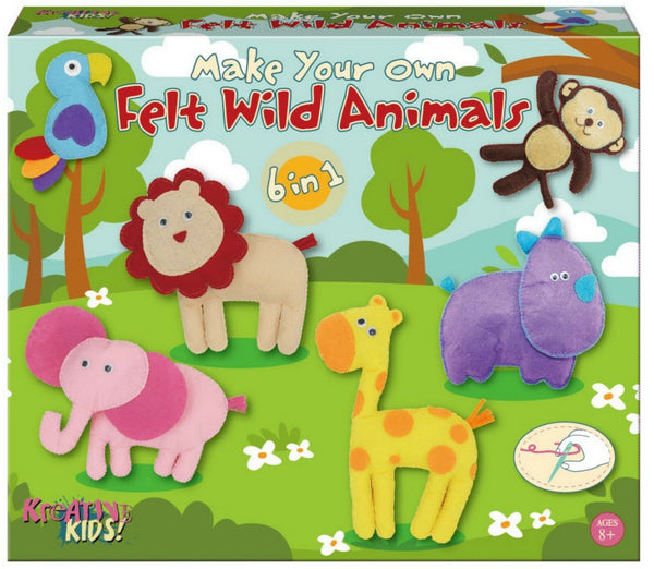Make Your Own Felt Stuffed Wild Animal Kit Craft Kit