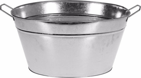 Large Zinc Tub With Carry Handles, For Planting Storage Washing Bucket 16 Litre