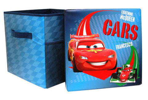 Cars 2 Childrens Kids Toys Bedroom Storage Seat Stool Chair Box