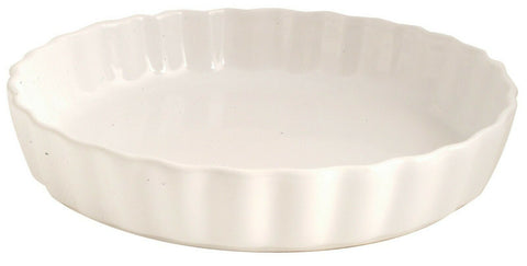Rayware Milan 28.5cm Round Rippled White Pie Dish Oven Dish