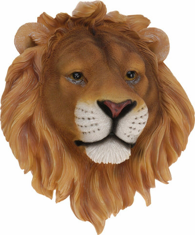 Large Wall hanging True Look A Like Of Lion Head 32cm Polystone Animal Ornament