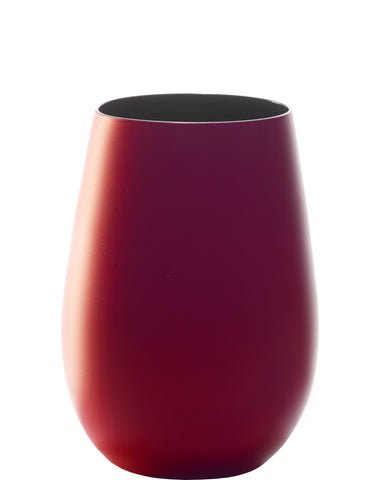 Stölzle Lausitz Olympic Red & Black Water Wine Glasses Tumblers Glossy or Matt Finish (Matt Red)