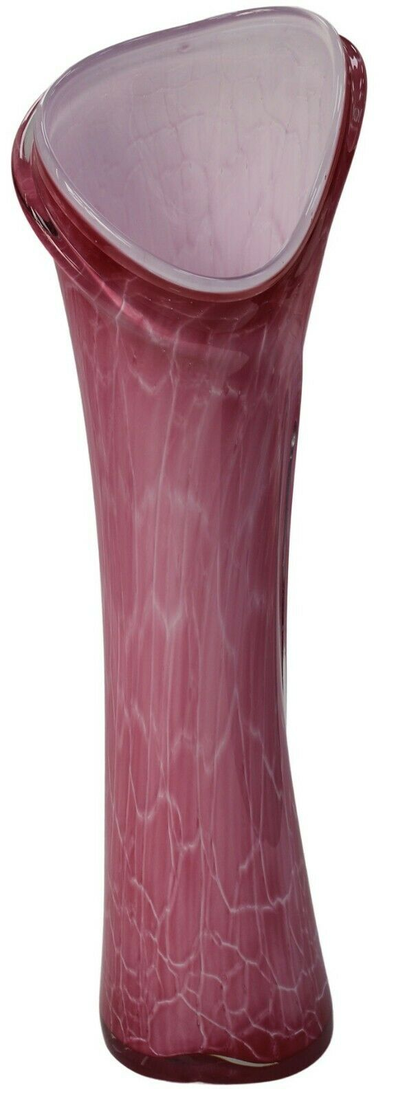 59cm Tall Floor Standing Glass Vase Sicily Tall Lily Vase Pink Pearl