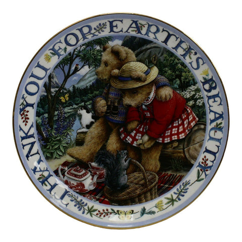 Royal Doulton China Thank You For Earth  Limited Edition Plate Number MA2150
