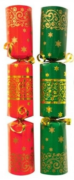 Christmas Cracker Red & Green - Box of 50 Bulk Pack Catering Christmas Crackers