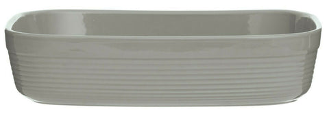 M. Cash Rectangular Deep Roasting Baking Dish Large 31cm Oven Dish Rippled Grey