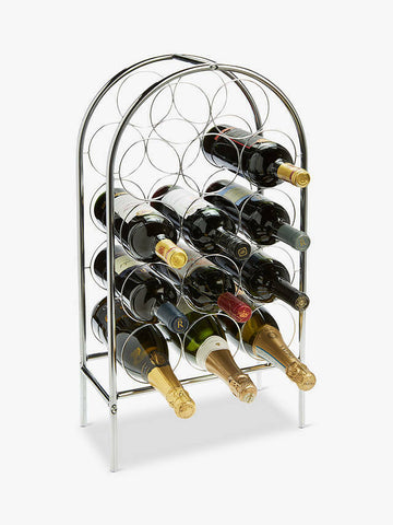 RTA 14 Bottle Chrome Wine Rack Floorstanding Wine Rack