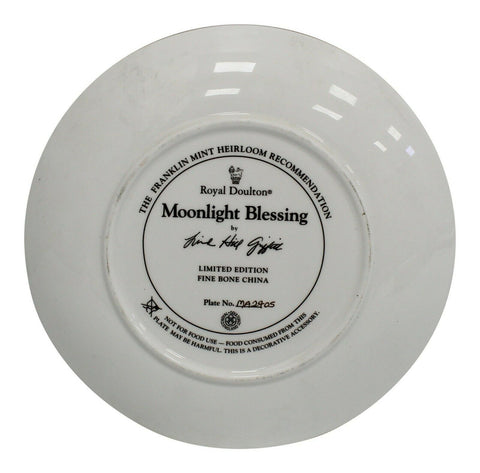 Royal Doulton China Moonlight Blessing Limited Edition Plate Number MA2405