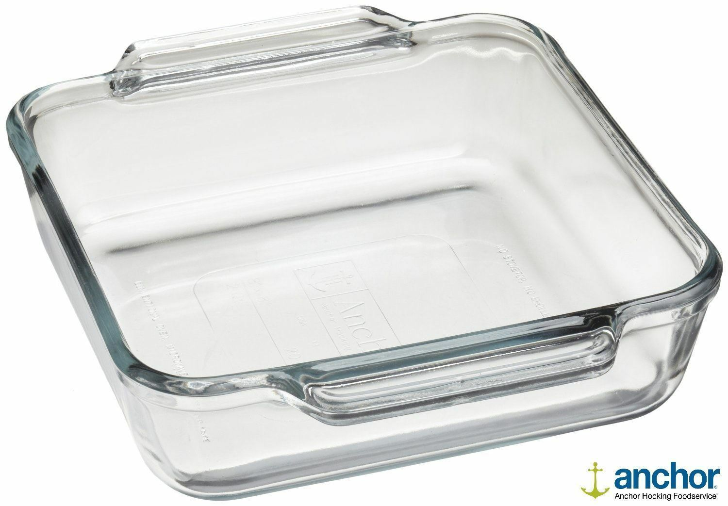 Anchor Hocking 81934 Glass Square Deep Baking Dish Oven Tray Roasting Dish