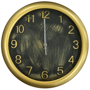 28cm Round Antique Style Gold Wall Clock