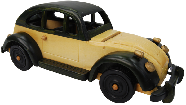30cm Large Wooden Car Model Retro Design Intricate VW Beetle Design 10