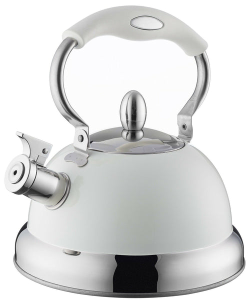 Typhoon Retro Whistling Kettle Pastel Colours Cream Induction Stove Top