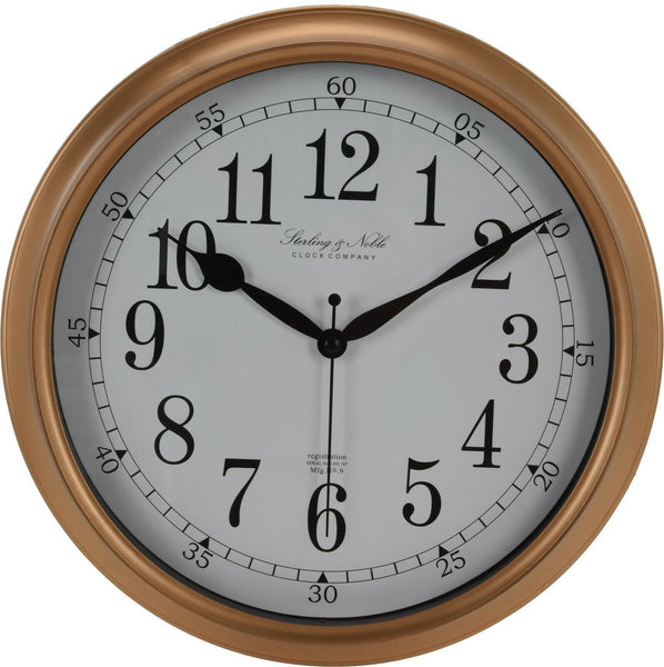 Large 28cm Round Gold Wall Clocks Thick Frame Antique Look