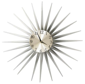 Large Metal Contemporary Sun Design Feature Wall Clock 59cm x 59cm