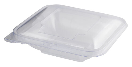 250 ML Hinged Lid Clear Square Salad Container QTY 50