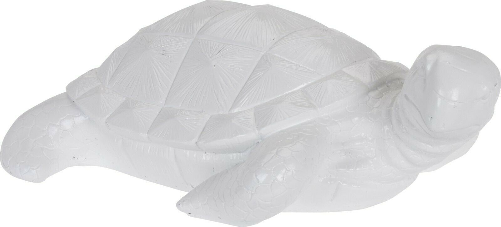 Large 52cm White Turtle Garden Ornament Indoor Outdoor Pond Feature
