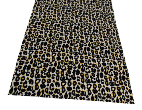 Leopard Print Fabric Table Runner 2 Meters Long Elegant (over 6ft Length)
