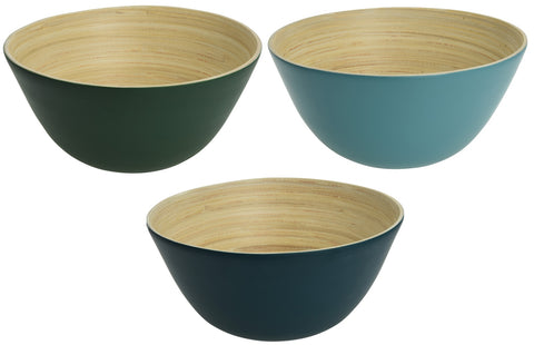 Large 26cm Eco Friendly Bamboo Fibre Mixing Bowls Wood Bowls