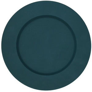 Set of 4 Blue Metal Charger Plates Under Plates Place Mats 33cm