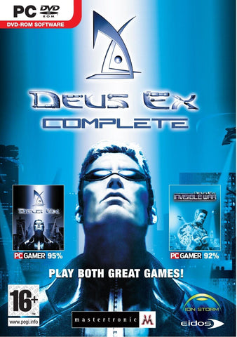 Deus Ex Action Computer Video Game Complete PC Dvd Rom For Players Ages 16+