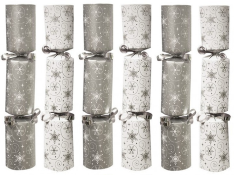 Christmas Cracker White Silver  Box of 50 Bulk Pack Catering Christmas Cracker