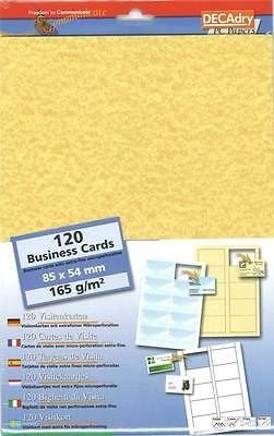 DECAdry SCR-2029 Cards 165Gr Parchment Business Cards Make your own  cards