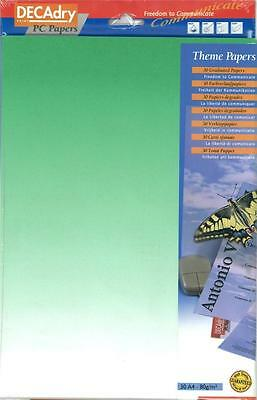 Decadry SPJ-2032 Stunning  Green Themed Art A4 Paper, Certificate Paper