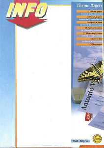 Decadry SPF-2020 Premium Letterhead INFO Themed A4 Paper, Certificate Paper