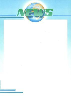 Decadry SPF-2044 Premium Letterhead NEWS Themed A4 Paper, Certificate Paper