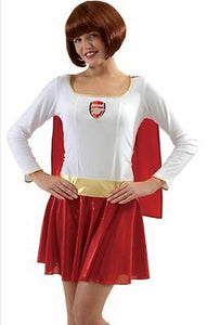 Arsenal Ladies Womens Football Fairy Fancy Dress Christmas Costume Dress Cape